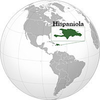 Hispaniola (orthographic projection)